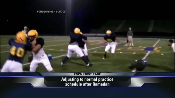 In Dearborn, Michigan, non-Muslim high school football players are forced to follow sharia-compliant practice schedules and prayer times