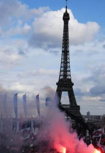 Paris Saint-Germain Ligue 1 Trophy Ceremony at Trocadero in Paris, France - 13 May 2013