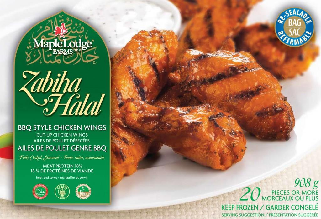 Zabiha Halal BBQ Wings 908g FNL