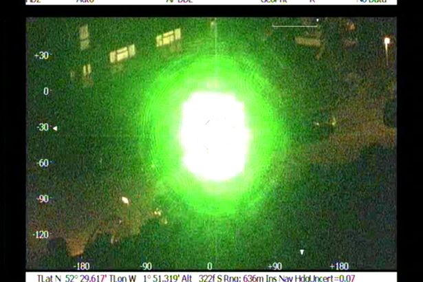 Laser attacks on aircraft in Birmingham are rising