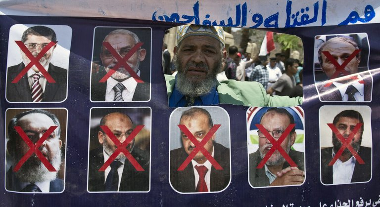 Most of the leaders of the Muslim Brotherhood in Egypt have been rounded up and arrested by the Egyptian Army and Security Forces