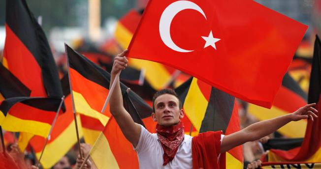 German Turk shows with which country his loyalties lie