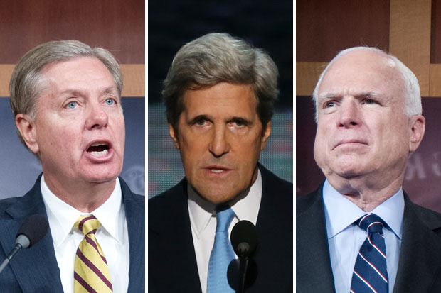 Miss Lindsey, John 'I was in Vietnam' Kerry and John McCain didn't fare much better