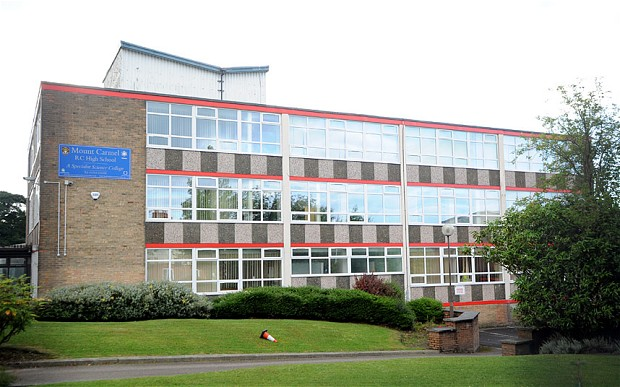Mount Carmel Roman Catholic High School in Accrington, Lancashire.