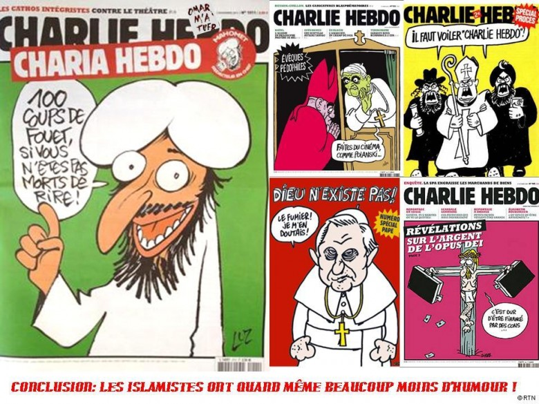 Charlie Hebdo attacks all religions equally