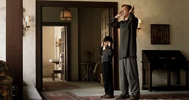 Brody praying to Allah with the son of terrorist Abu Nazir