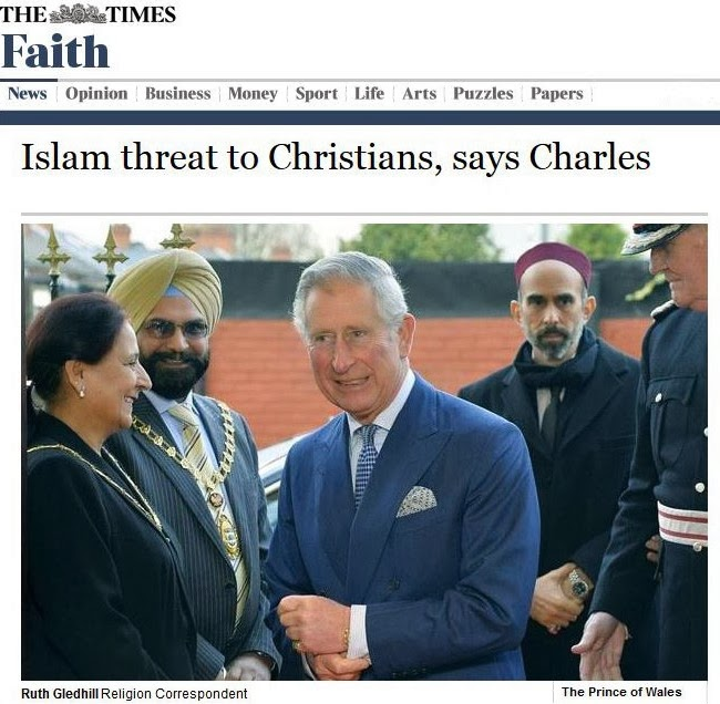 Prince Charles - Islam threat to Christians2