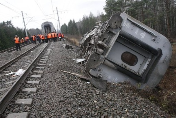 The derailment is Russia's worst train accident for several years and represents a surge in attacks by Muslim jihadists from the North Caucasus.
