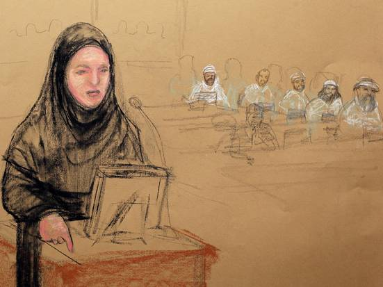 "The NON-MUSLIM female attorney of one of the defendants, herself dressed in sharia-compliant Muslim attire, called for all women in the Guantanamo Bay courtroom to wear ""appropriate"" clothing during trial proceedings out of respect for her client's religious beliefs."