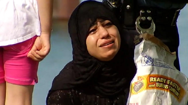 Unidentified family member of one of the drowned Muslims
