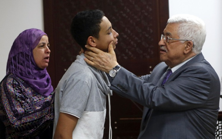 WOW! They even got PA president Mahmoud Abbas to whine about this teenage good for nothing thug