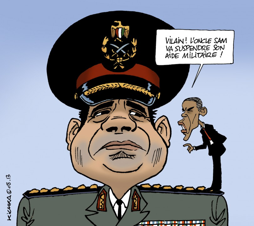 Obama was furious that his Muslim Brotherhood pal Mohamed Morsi was overthrown and replaced by Sisi as president. He has threatened to cut off all military aid to Egypt as a result.
