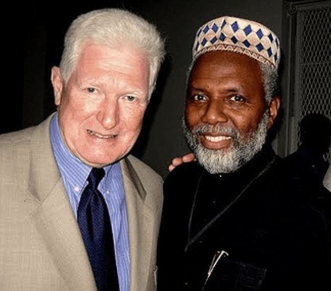 "Congressman Jim Moran with Imam Malik of the 9/11 Dar al-Hijrah terror mosque. Moran is also named as the #2 or the ""Top Ten Recipients of Arab-Muslim Cash."" (here)"
