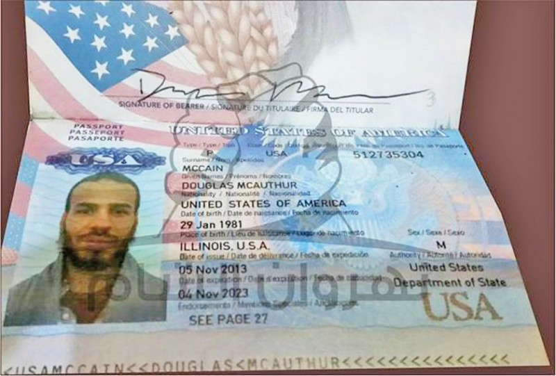 The first reported American to die while fighting for the Islamic State, Douglas McAuthur McCain, 33, was carrying his American passport