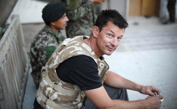 Una foto de John Cantlie a partir de 2012 antes de su captura por parte de terroristas islámicos