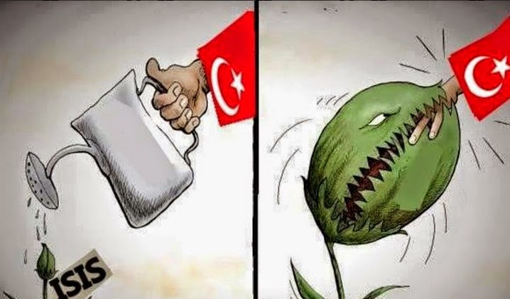 ISIS Erdogan Turkije cartoon