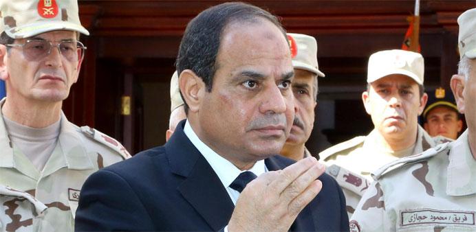 Presidente de Egipto Sisi jura venganza después de 31 soldados muertos en el Sinaí
