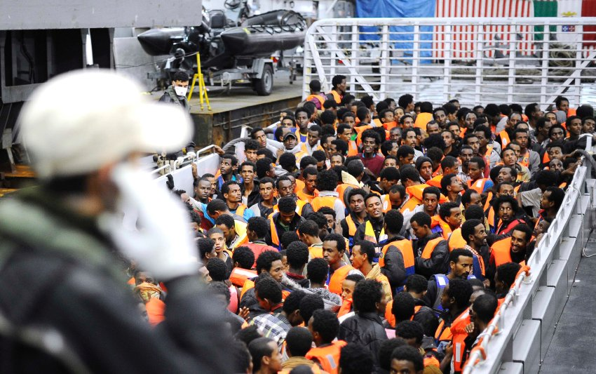 Stupid Italy, rescuing muslim parasites who will rape their women and live off welfare while endangering native Italians