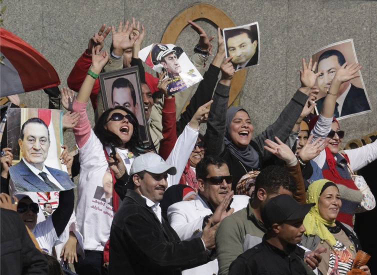 Mubarak supporters were overjoyed at the verdict