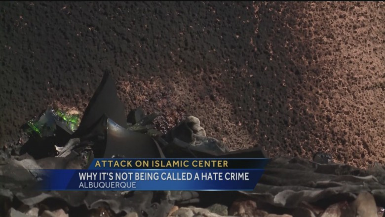 "Recent firecracker ""attack"" on Albuquerque Islamic Center"