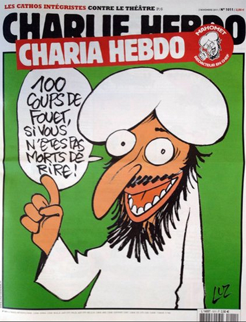 Muhammed states, '100 lashes if you don't die of laughter!'