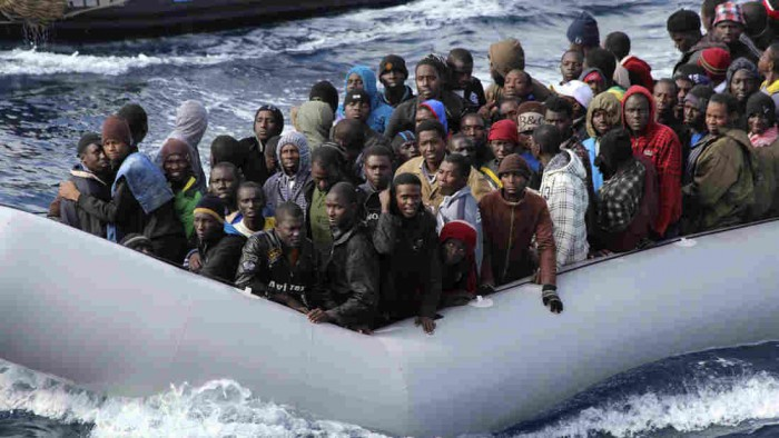 African Muslim illegal alien invaders being rescued by Italian Coast Guard