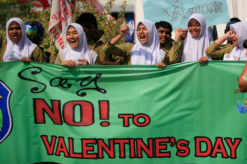 valentines-day-protests-indonesia