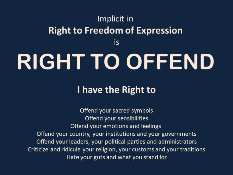 Right to Offend Poster