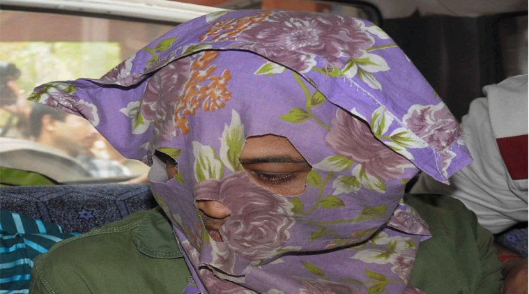 Mohammad Salim in disguise, one of the accused of nun gang-rape case, is taken to court by the CID officials