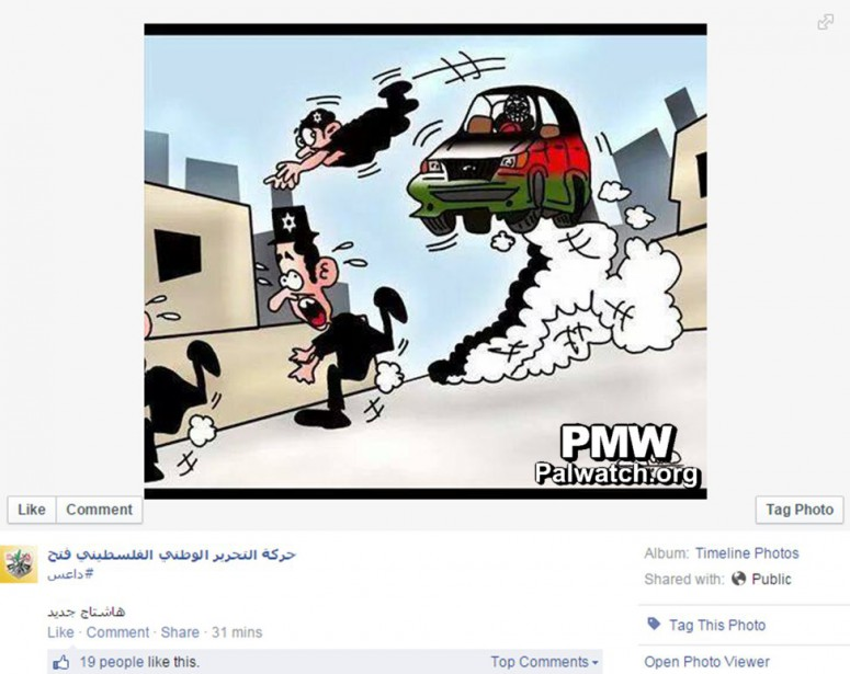 "So-called ""moderate"" Mahmoud Abbas' Fatah party encourages Muslims to wage vehicular jihad and run over Jews"