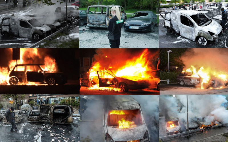 The result of Muslim riots in Sweden
