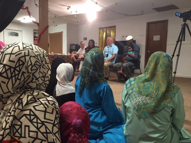Residents and worshipers of Holy Islamville near York on Tuesday heard from the FBI and the York County Sheriff's office on possible dangers from anti-Muslim bigots