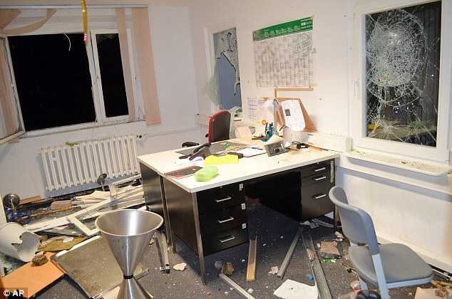 MUSLIMS destroy office at refugee center