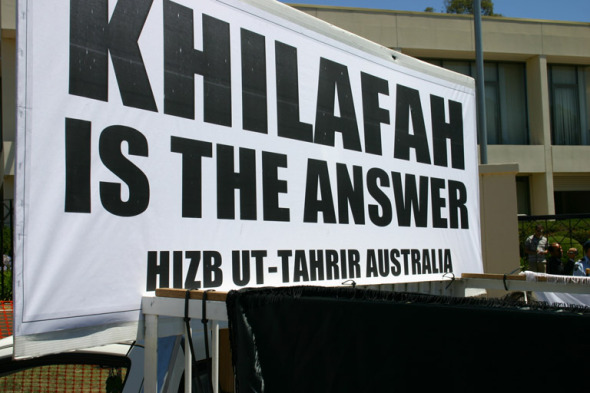 Khilafah = Islamic Caliphate (like ISIS)