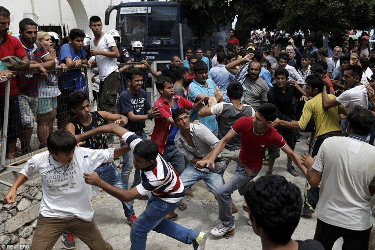 Wherever there are Muslim invaders, there are violent brawls