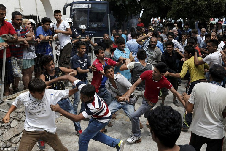 Muslims get impatient while waiting for their documents so they can go to EU countries with better benefits than Italy offers