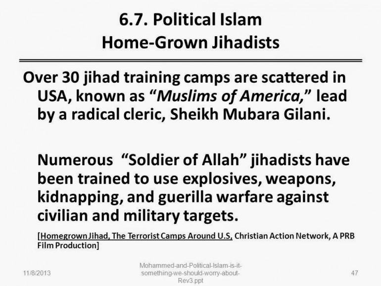 no-go jihad training camps