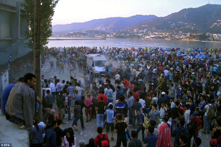 Muslims start a riot as soon as they land on Lesbos