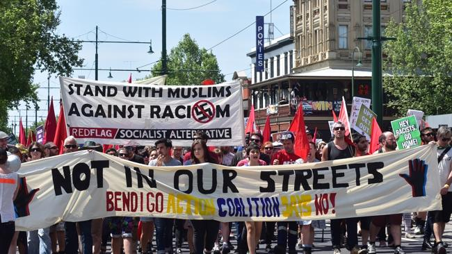 Leftists standing with Muslims, the most racist and bigoted people on earth