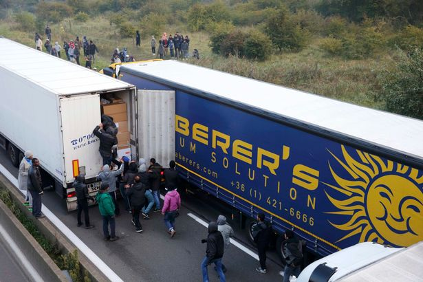 Muslims in Calais are breaking into trucks to hitch rides to the UK