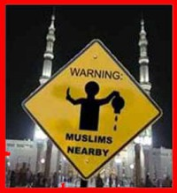 Muslim Warning Traffic Sign