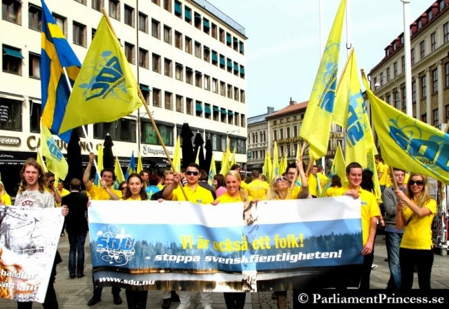"""Swedish students are reduced to demonstrating against 'Hostility toward Swedes"""" by Muslim immigrants"""