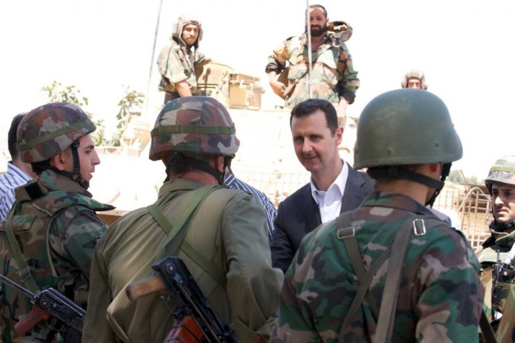 "Bashar al-Assad says the success of a military campaign by Russia, Syria and its allies is vital to save the Middle East from ""destruction""."