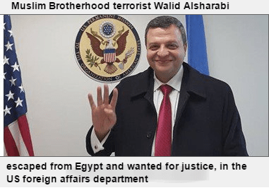 This wanted terrorist held up the 4-finger Muslim Brotherhood salute in the White House