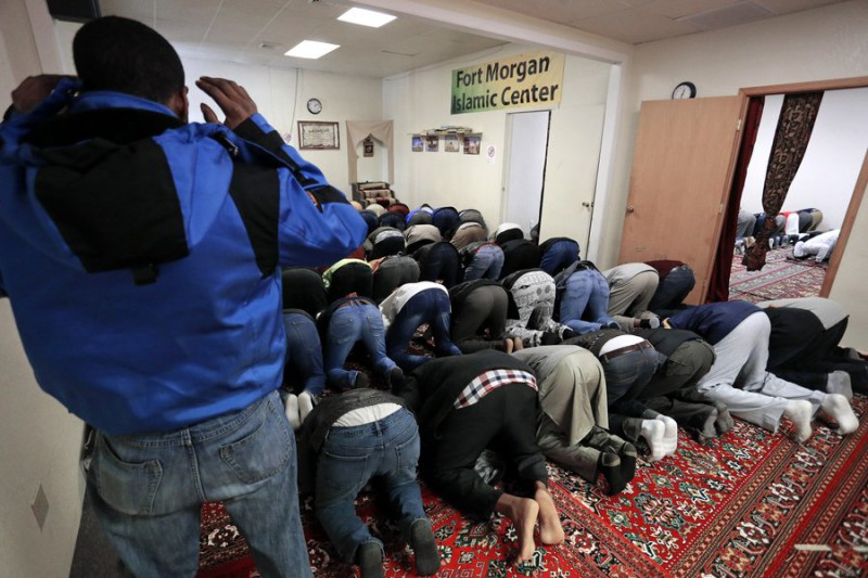 They don't need a mosque, they can lift their asses to Allah in any room