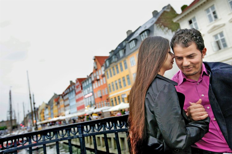 "Author Hamed Abdel-Samad with his wife Connie in Copenhagen. Abdel-Samad says, ""I wanted to get away from Islam, away from everything."""