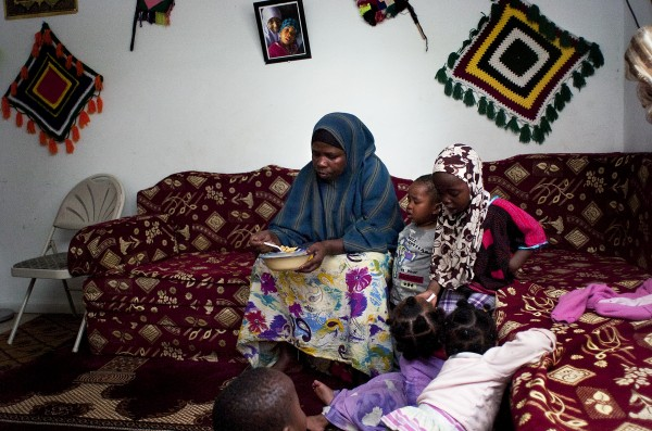Somali Muslim mother with five kids under the age of 8