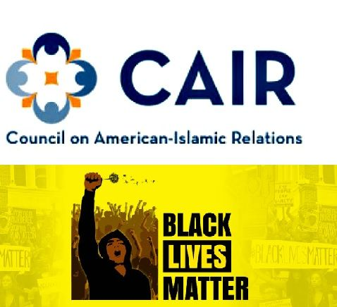 Image result for pics of black lives matter and cair