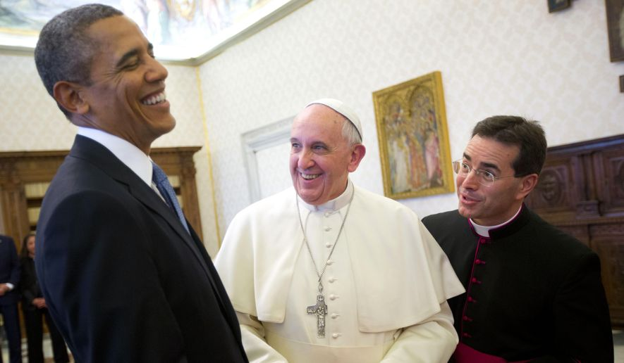 Obama and Francis must have had a good laugh over this