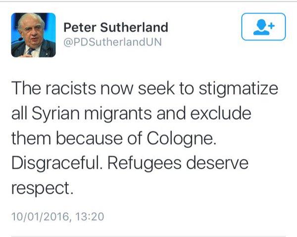 Peter Sutherland refugees